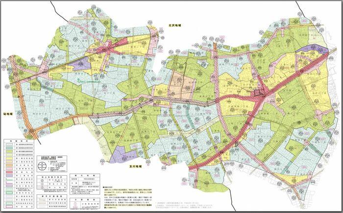 生産緑地かどうかを調べる方法1都市計画図