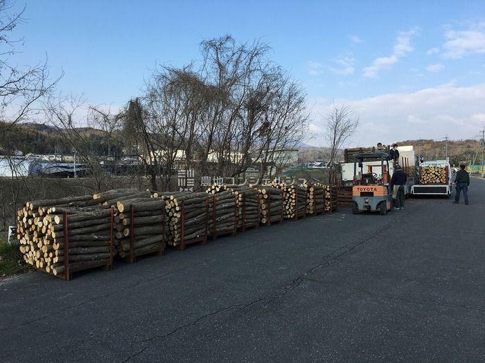 原木の納品