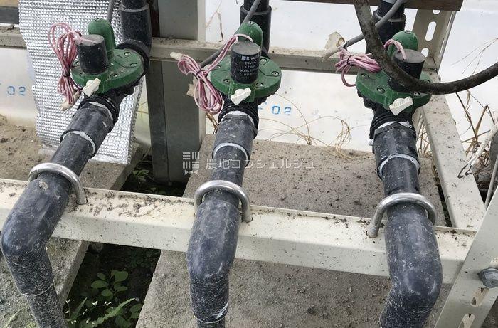 灌水装置の液肥管理調整バルブ