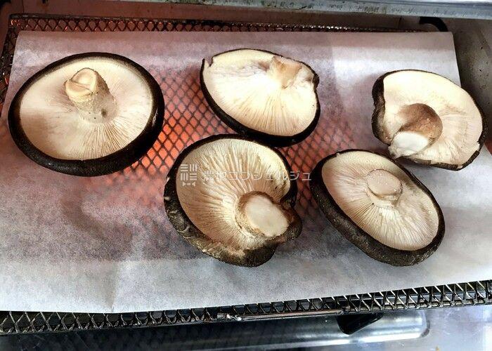 原木しいたけの石焼4