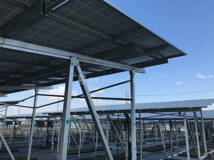 ソーラーシェアリングアレイ方式アルミ架台