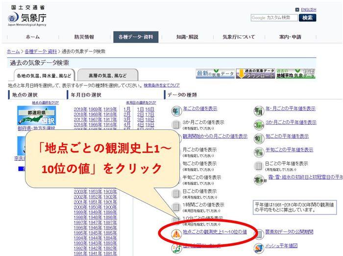 気象庁ホームページ4