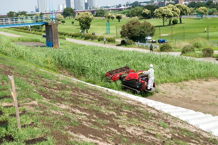 大型機で草刈り