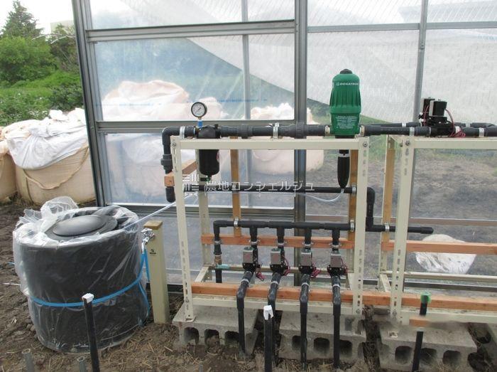 灌水装置の取り付け