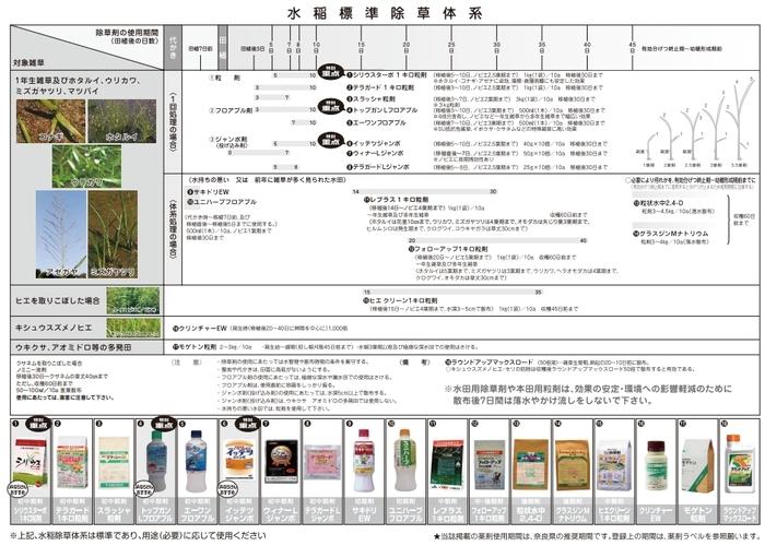 水稲標準除草体系